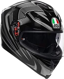 AGV Unisex-Adult Full Face K-5S Hurricane 2.0 Motorcycle Helmet (Silver, Large)