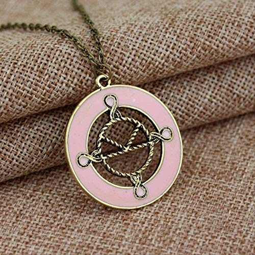 NC122 Pendant Necklace Jewelry Charm Pink Enamel The secret service for women's fashion accessories