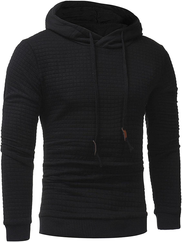 Hoodies for Men Men's Fashion Hoodies & Sweatshirts Autumn Slim Casual Plaid Hooded Long Sleeve Sweatershirts Top Men