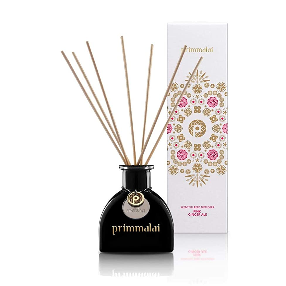Primmalai – Premium Essential Oil Reed Diffuser - Long Lasting - Available in 13 Luxurious Thai Scents - 100 ml (Pink Ginger Ale)