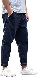 [Make 2 Be] メンズ 9分丈 カラー パンツ 無地 ワイドパンツ 大きいサイズ テーパード 美シルエット チノパン ロングパンツ 綿パン MF95
