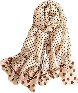 Alice Women Fashion Polka Dots Silky Satin Scarf Large Shawl Head Wrap
