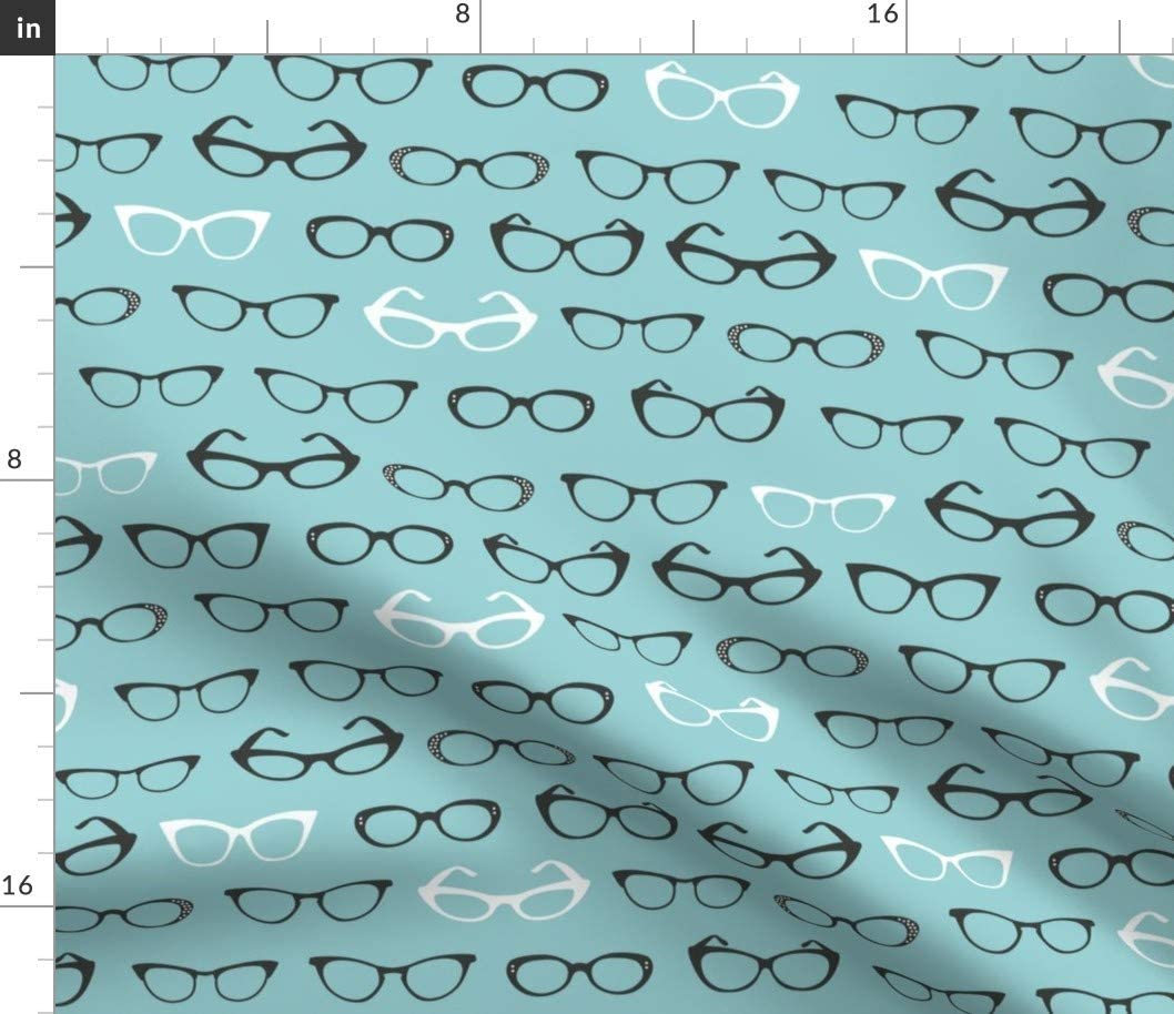 Spoonflower Fabric - Cats Eye Glasses Geek Popular popular Pr Nerd Retro Vintage Direct store