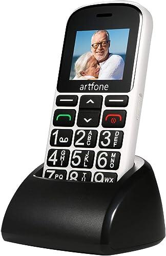 artfone CS188 GSM Téléphone Portable Senior Débloqué avec Grandes Touches | Bouton SOS | Dual-SIM | Radio FM | Box Sp...
