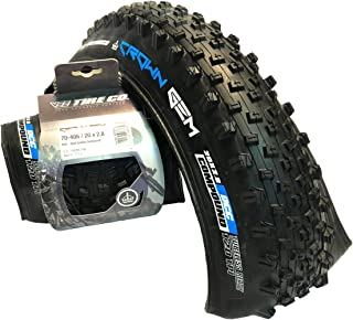 Vee Tire Crown Gem BikeRoad Tire with Folding Bead Dual Control Compound Tubeless Tire - (20x2.8), (70mm-406mm), (Set of 2)
