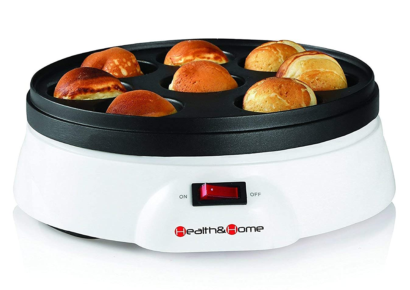 Health and Home Electric Takoyaki Octopus& Pan 8- Balls Makers Donut Holes and Cake Pops with Non-stick Surface