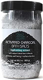 Dead Sea Activated Charcoal Bath Salts Hydrating Retinal Softens Skin 28.2 oz