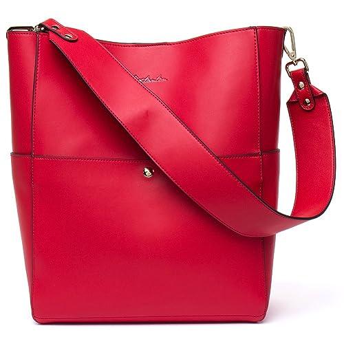 60c8f9183d BOSTANTEN Women s Leather Designer Handbags Tote Purses Shoulder Bucket Bags