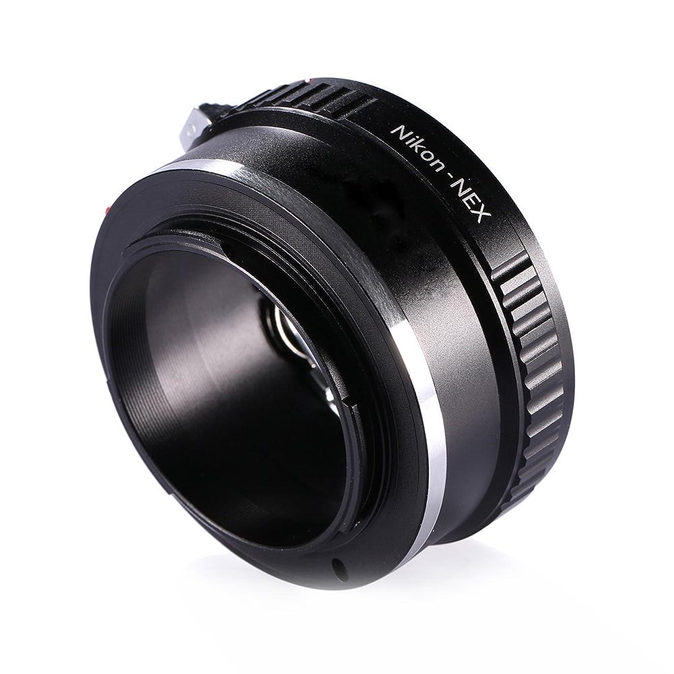 Adapter To Convert Nikon F-Mount Lens To E-mount / NEX For Alpha Sony a7, a7S, a7IIK, a7II, a7R II, a6500, a6300, a6000, a5000, a5100, a3000 Mirrorless Digital Camera