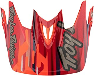 Troy Lee Designs Adult D3 Visor Code BMX Helmet Accessories - Orange/One Size