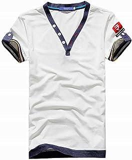 (メイク トゥ ビー) Make 2 Be ヘンリーネック Vネック 半袖 Tシャツ メンズ カジュアル 3color KB04