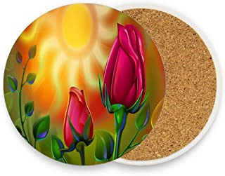 CoolToiletLidCoverCC Intense colors in a wonderful picture Ceramic Coaster for Drinks 4