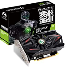 MAXSUN GEFORCE GTX 1050 Ti 4GB GDDR5 128 Bit Video Gaming Graphics Card GPU Mini ITX Design, DisplayPort, HDMI, DVI-D, Sin...