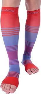 Doc Miller Premium Calf Compression Sleeve Dress Series 1 Pair 20-30mmHg Strong Calf Support Cute Toeless Socks Graduated Pressure Sports Running Recovery Shin Splints Varicose Veins XL 2XL