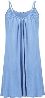 IN'VOLAND Womens Plus Size Nightgown Sleeveless Sleepwear Summer Cotton Sleepshirts Slip Night Dress XL-5XL