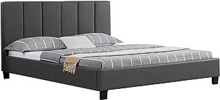 IDIMEX Lit Double pour Adulte Roxy Couchage Queen Size 160 x 200 cm 2 Places / 2 Personnes, avec sommier et tête de lit De...