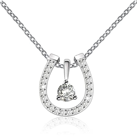 Kabana Equestrian Horseshoe Sterling Silver Necklace 18 USA