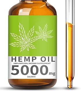 topnatureplus 5000mg hemp oil for pain relief, stress, anxiety and sleep- hemp oil drops