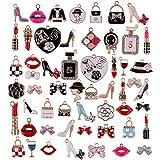 tacobear 55 pezzi ciondoli per bracciali fai da te ciondoli per orecchini collane ciondoli smaltati assortiti ciondolo labbra trucco charms pendenti per gioielli fai da te creazione gioielli regalo