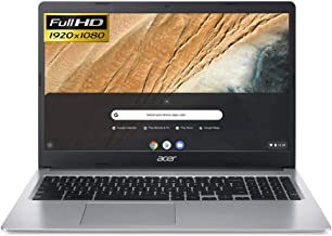 Acer Chromebook 315 Laptop in Silver Intel Celeron Dual Core N4020 up to 2.8GHz 4GB RAM 64GB eMMC 15.6in Full HD LCD Web C...