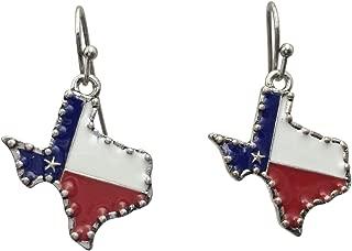 texas shaped hoop earrings