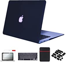 Se7enline MacBook Pro 15 Case Matte Plastic Hard Cover for MacBook Pro 15 inch A1286 with DVD Drive Release 2012 2011 2010 with Sleeve Bag, Keyboard Cover Skin, Screen Protector, Dust Plug, Black