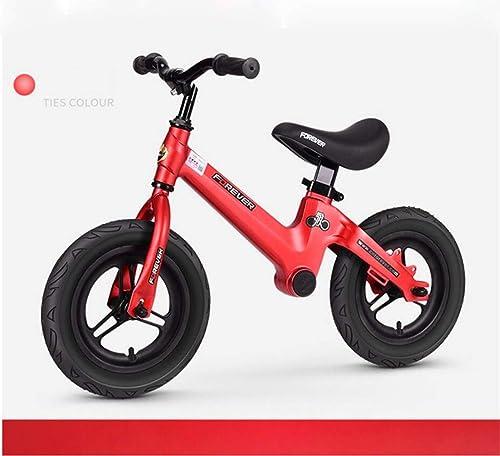 MYMAO 01Enfants pédale vélo magnésium Alliage Mousse Roue Yo Voiture Enfant Scooter Enfants équilibre Voiture Scooter 1-3-6 années Vieux,rouge