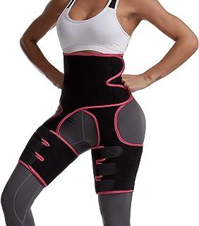 مشذبات الخصر 3 في 1 حزام تدريب عالي الخصر اللياقة البدنية الوزن بعقب معزز الفخذ مشد الجسم