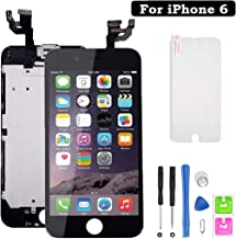 Screen Replacement for iPhone 6, LCD Display with 3D Touch Screen Digitizer Full Assembly Inculde Home Button,Front Camera, Earpiece,Proximity Sensor with Repair Tools Kit (Black,4.7inch)