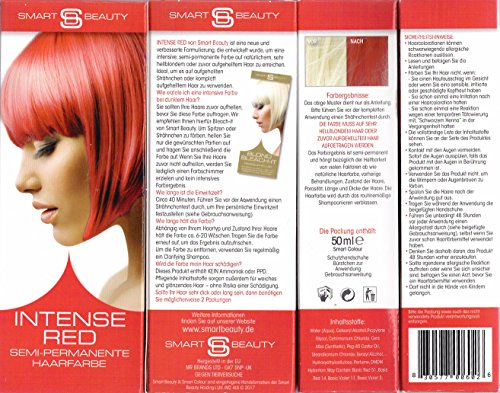 Smart Beauty Intense Red Semi-Permanente Haarfarbe 50 ml