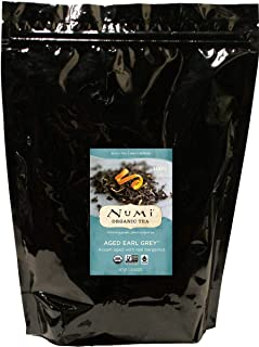 Numi Organic Tea Aged Earl Grey, 16 Ounce Pouch, Loose Leaf Black Tea (Packaging May Vary)