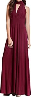 FYMNSI Women's Convertible Multi Way Transformer Wrap Dress Cocktail Evening Gown Homecoming Long Prom