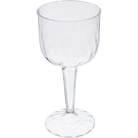 Exquisite 6 Oz Clear Plastic Wine Glasses 2 Piece Stemmed Plastic Wine Cups 40 Wine Glasses