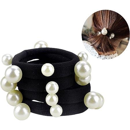 Women/'s Hair Rope Pearl Head Rope Headdress Hair Rubber Band  Hair Ring Jewelry