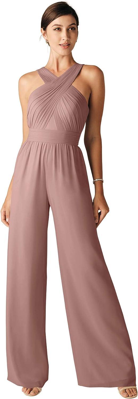 ALICEPUB Women's Elegant Casual Loose Wide Leg Pant Romper Jumpsuits Outfit Wedding Guest