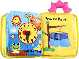 Aprigreen Quiet Book for Toddler Portable Baby Soft Touch and Feel Activity Cloth Book, Learning to Sensory Book,3D Books ...