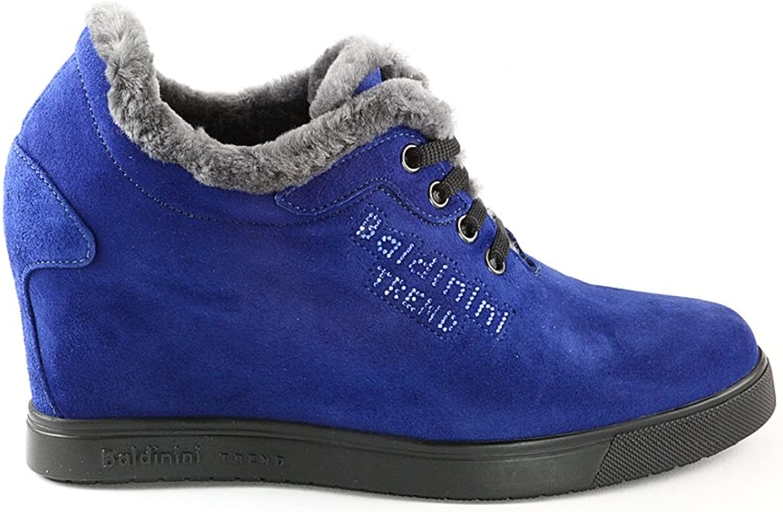 Baldinini 4110 Italian Designer bluee Suede Platform Boots