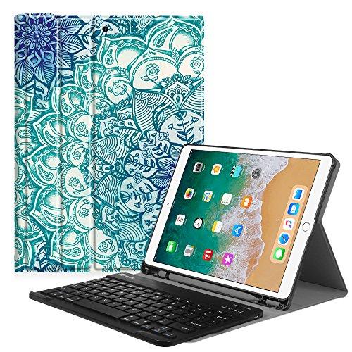 Fintie iPad Pro 10.5 toetsenbordhoes met ingebouwde Apple potloodhouder - SlimShell beschermhoes met magnetisch afneembaar draadloos Bluetooth-toetsenbord voor Apple iPad Pro 10.5 Inch 2017,