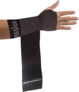 Copper Compression Recovery Wrist Sleeve with Adjustable Wrap for Extra Support. Guaranteed Highest Copper Wrist Brace. Carpal Tunnel, RSI, Sprains, Workout (1 Sleeve - Fits Either Hand)