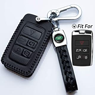 Key Fob Case for Range Rover Evoque Velar Discovery LR4 Land Rover Sport and Jaguar XF XJ XE F-PACE F-Type 5-Buttons Premium Soft TPU Protection Silver COMPONALL Key Fob Cover for Rover and Jaguar