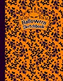 Halloween Sketchbook: Cute Halloween black dress Kawaii Sketchbook for Girls And Boys with 100 Pages of 8.5 x 11, Blank Paper for Drawing, Doodling or ... to Draw, (Halloween black dress Lovers ).