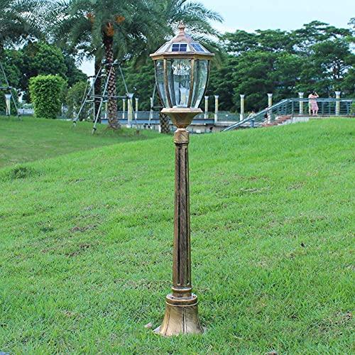 Columna Exterior Solar Faros Delanteros LED Tradicionales Exterior Poste Exterior Linterna Que Luces de Pilar Resistente a la Intemperie IP54 Decorativo Parque Garaje Puerta de jardín
