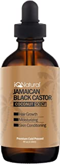Jamaican Black Castor Oil for Hair Growth and Skin Conditioning [SCENT COCONUT]- 100% Cold-Pressed 4oz Bottle