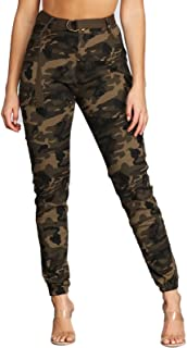 Women's High Waist Slim Fit Jogger Cargo Camo Sweatpants for Women with Pockets