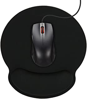 Mouse Pad with Ergonomic Memory Foam Wrist Rest,Support Wrist Cushion Support - Lightweight Rest Mousepad for Home, Office & Travel, Black