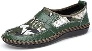 Men's Loafer Flat Heel Satisfying Vividness Slip On Shoes Go to work (Color : Green, Size : 38 EU)