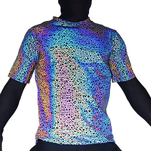 Reflective Rave Jersey Mens Womens – EDM Neon Light Up Color Changing T-Shirts