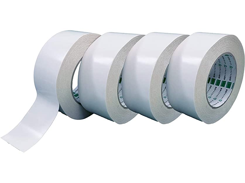 遠洋の評決ハッピーオカモト 布両面テープ 541N 50mm幅×15M巻 (4巻入)