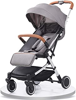 Baby Stroller, Baby Car, Travel Baby Stroller Light Portable Folding Four-Wheeled Cover Mosquito Holder Removable Wash (Color : E)