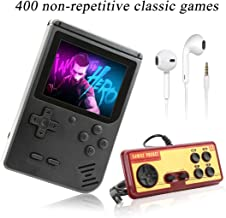 AKTOUGST Handheld Game Console, Retro Game Console 400 Classic Game FC System Video Portable Mini Extra Joystick Controller Support TV 2 Player,Gift for Children Adult, (Black)